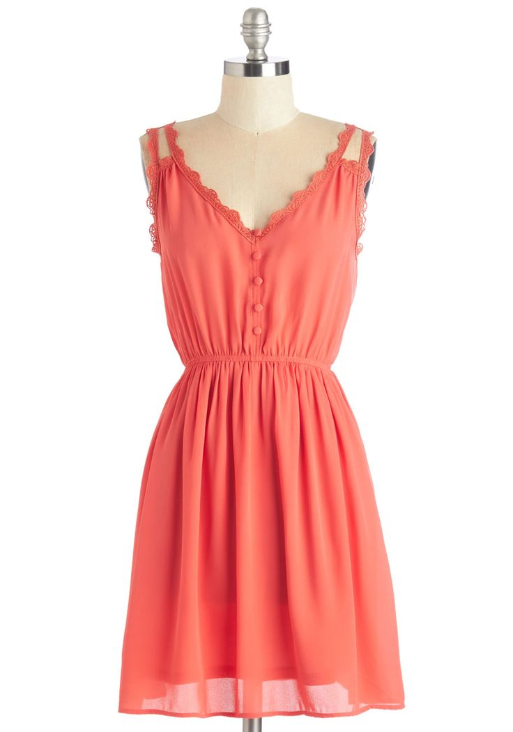 Farmer's Market Morning Dress in Coral