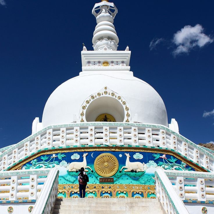 Ladakh, Leh, Shanti Stupa , India  Read about all the must-see when in ladakh.