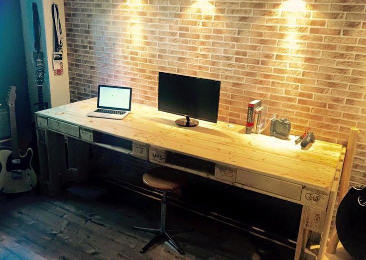 escritorio de palets                                                                                                                                                     Más