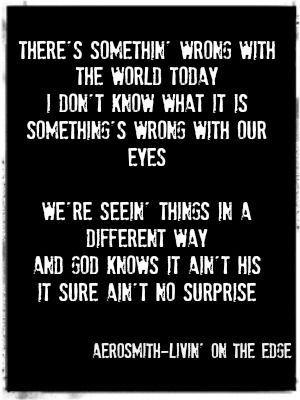Aerosmith - Livin' On The Edge - Lyrics - YouTube