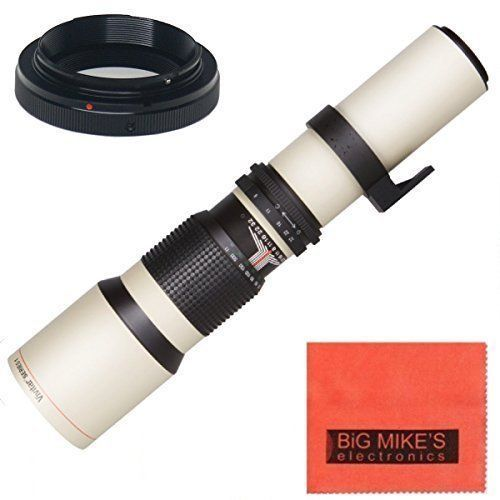 Introducing HighPower 500mm f8 Manual Telephoto Lens for Nikon D90 D550 D3000 D3100 D3200 D3300 D3400 D5000 D5100 D5200 D5300 D5500 D7000 D7100 D7200 D300 D300s D600 D610 D700 D750 D800 D800e D810 D810a DSLR  WHITE. Great Product and follow us to get more updates!
