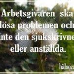 lösa problem, sjukskriven, hälsozam, www.halsozam.com