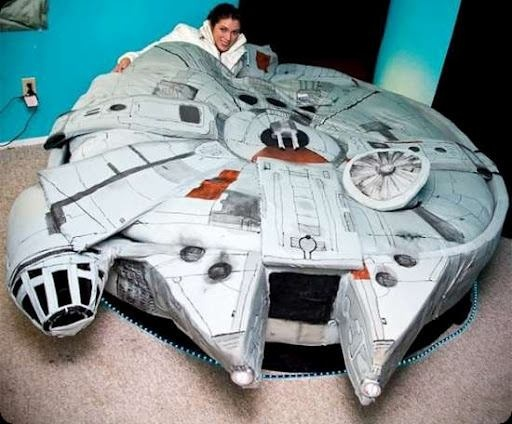 Millenium Falcon sleeping bag: Dreams Bedrooms, Sleep Bags, Millennium Falcons, Dreams Beds, Dreams House, Cool Beds, Stars War, Kayla Kromer, Falcons Beds