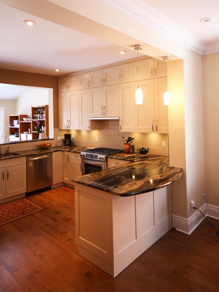25 best peninsula kitchen design ideas on pinterest for Small u shaped kitchen ideas