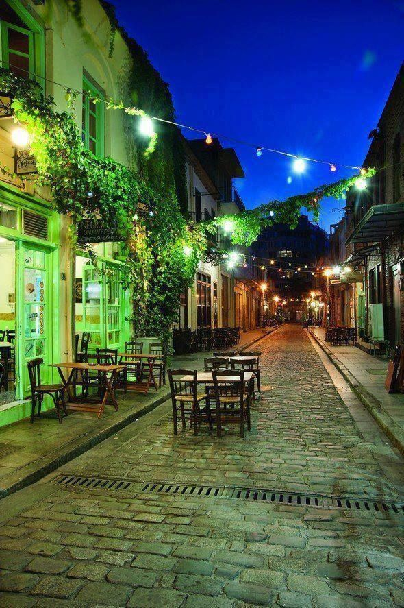 Ladadika, a neighborhood in #Thessaloniki (Greeece) known for the traditional tavernas and nightlife #bars