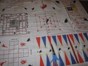 Making your medieval board games -- this would make a great quilt to bring to events for kids!