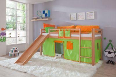Relita Hochbett Toby Buche Massiv mit Rutsche+Stoffset grün/orange Jetzt bestellen unter: https://moebel.ladendirekt.de/kinderzimmer/betten/hochbetten/?uid=d1687708-c8af-51d8-9058-62c757c3d1ef&utm_source=pinterest&utm_medium=pin&utm_campaign=boards #kinderzimmer #kleinkindmöbel #hochbetten #betten