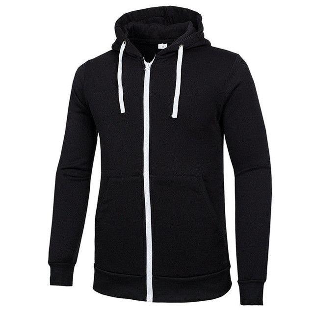 New Arrival Men Hoody Brand Men Sweatshirts Zipper Slim Fit Solid Sportswear Men Hoodies Casual Men Hoodie Jacket