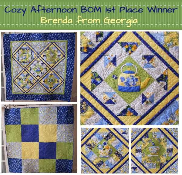 Cozy Afternoon Block of the Month Contest winner.