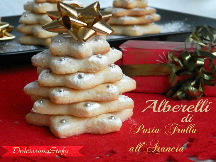 Alberelli di Pasta Frolla all'Arancia,ricetta di Natale