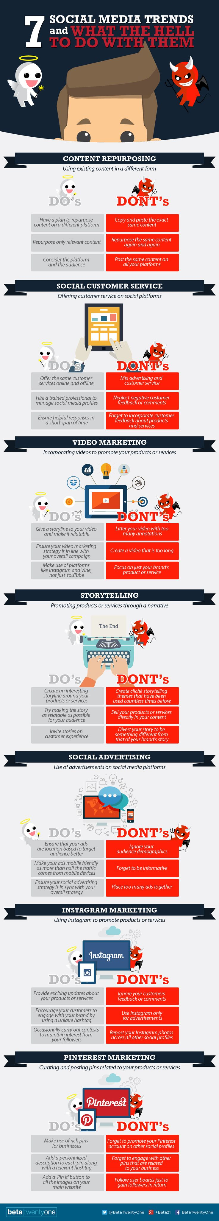 SOCIAL MEDIA - 7 #SocialMedia Trends and What The Hell To Do With Them - #marketing #infographic.