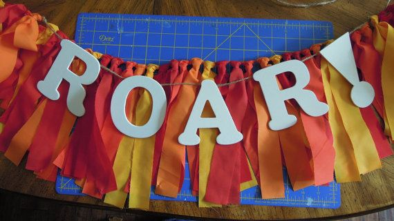 Lion Guard Red Orange Yellow Fabric Banner by SarwoldSeeds on Etsy