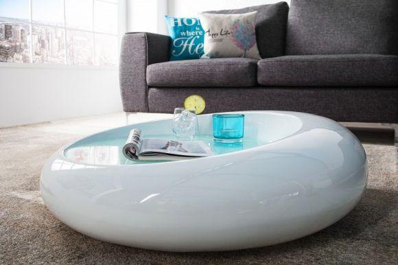 konferenční stolek ELLIPSE WHITE | deflee.cz