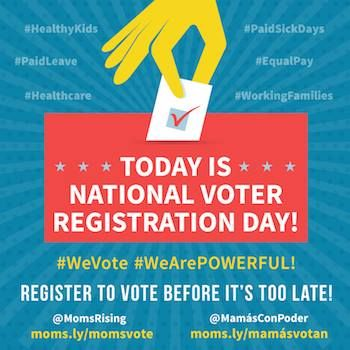 Thank a Suffragete: Celebrate National Voter Registration Day! | MomsRising's Blog http://www.momsrising.org/blog/thank-a-suffragete-celebrate-national-voter-registration-day