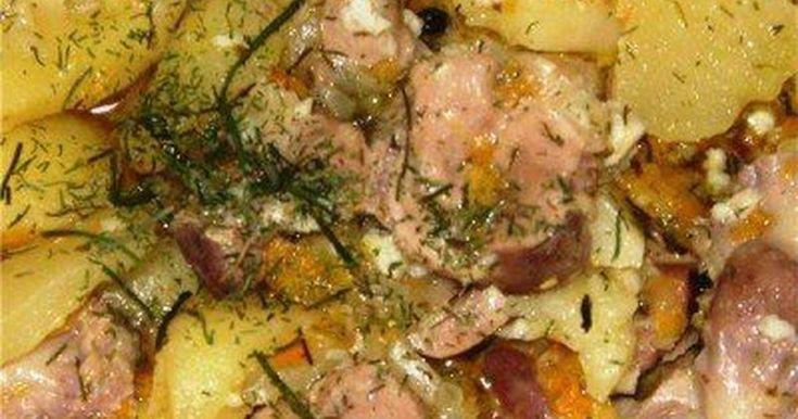 Классный рецепт - Куриные желудки с чесноком и зеленью!