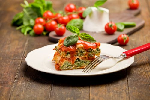 Spinach, Ricotta and Basil Lasagne