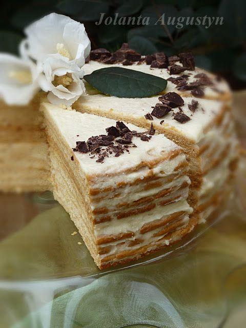 Gâteau polonais au miel - Ciasto może wydawać się Wam odrobinę skomplikowane, ale jest naprawdę bardzo proste.  Tortownica średnica 24 cm  I skład: 1 łyżeczka sody 1 ...