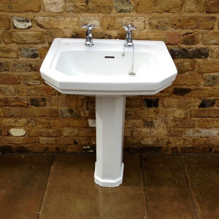 Reclaimed u0027Ideal Standardu0027 porcelain bathroom sink for sale on SalvoWEB  from Vu0026V Reclamation in