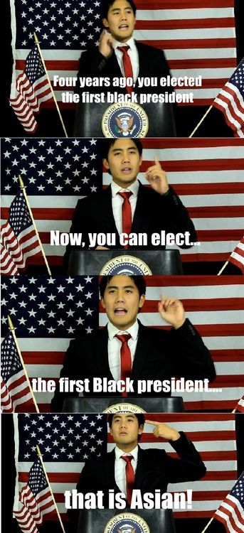 Ryan Higa for President..... We would have the best/dumbest president ever! Still love him