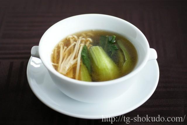 えのきと青梗菜(チンゲン菜)のスープ【中性脂肪を下げる汁物のレシピ】