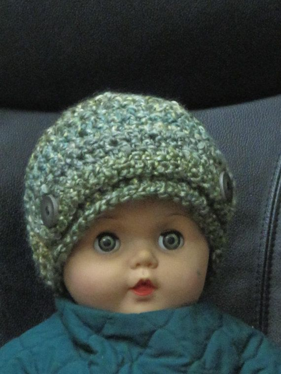Toque with buttons and band for your stylish toddler - so adorable! Custom order for different colours/sizes.