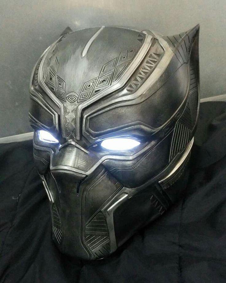 """Raw vibranium"" black panther helmet! Great idea"