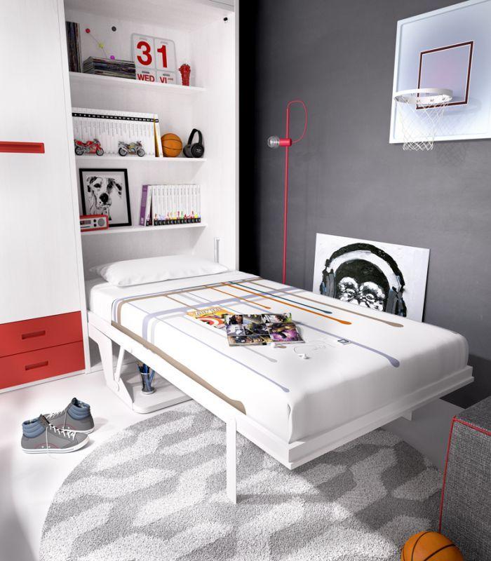 Sácale partido a los espacios pequeños. Camas abatibles verticales con escritorio integrado y estantes interiores. Entrega y montaje GRATIS en Península