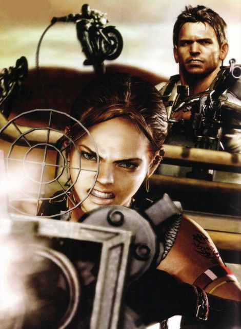 Resident evil 5. Sheva's angry face is so cute