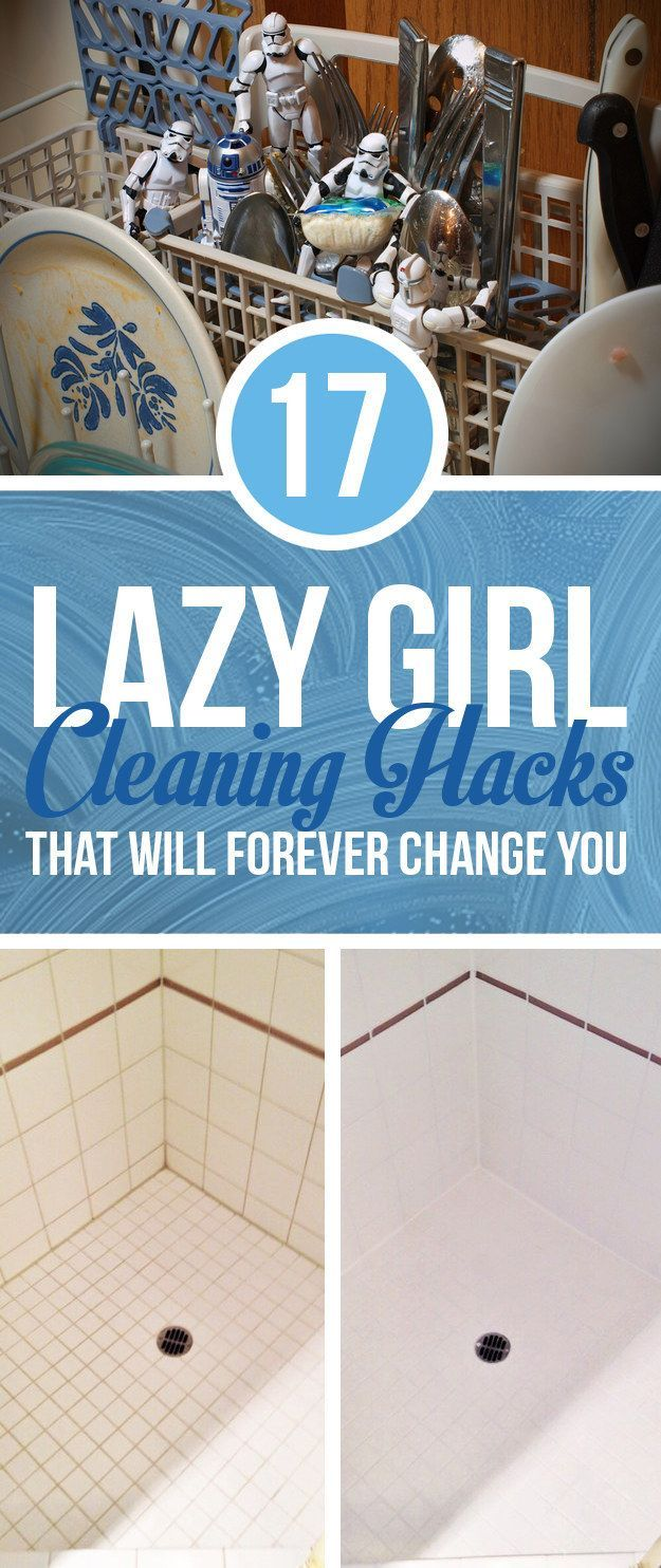 17 Lazy Girl Cleaning Hacks That Will Forever Change You. (Click Photo) / Check out Charter Arms on Pinterest or visit our web-sight at CharterFireArms.Com