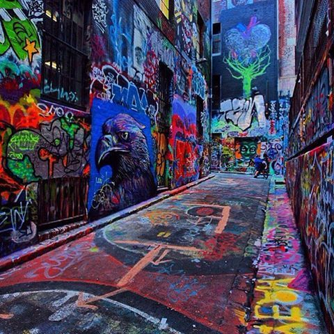 The amazing and world renowned street art on Hosier lane (amongst many others) in #Melbourne never gets oldPic via @rayofmelbourne. #contiki #australia #melbourne