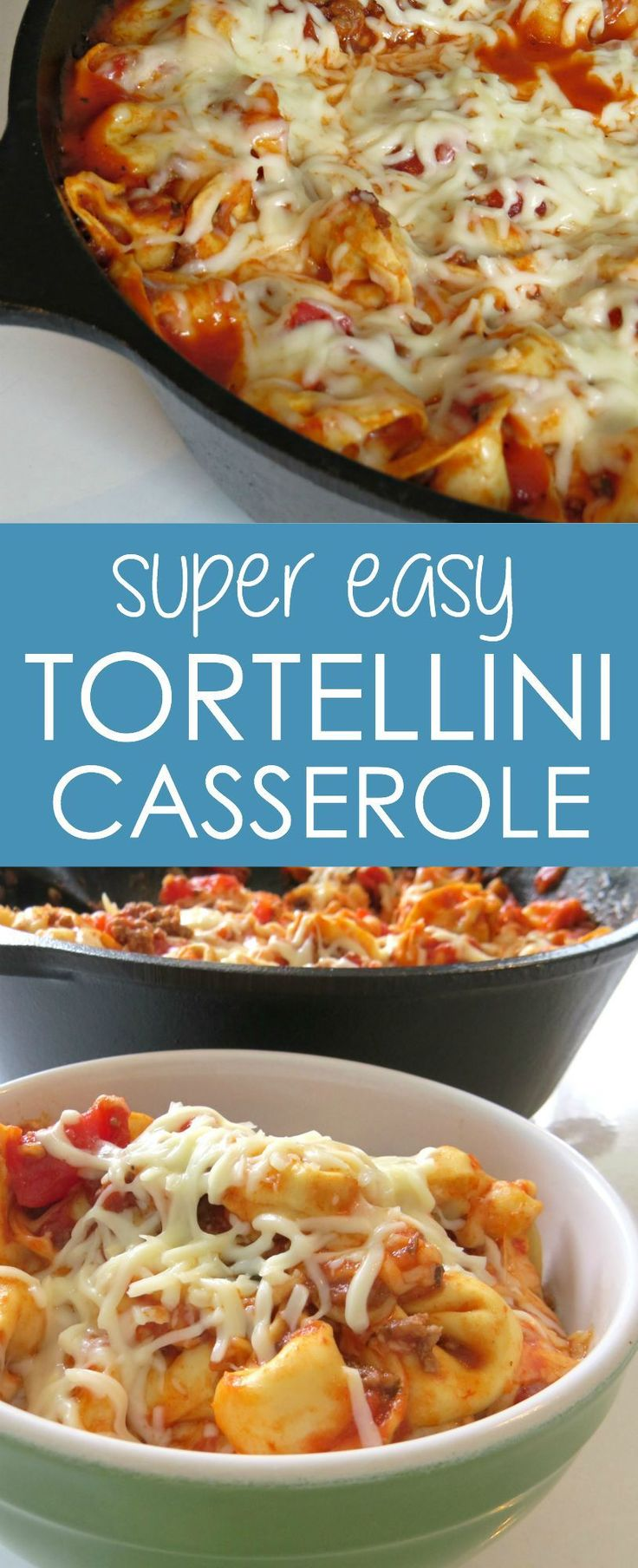 Baked Tortellini Casserole   One of my favorite pasta casserole recipes because there's cheese in the pasta itself! YUM.