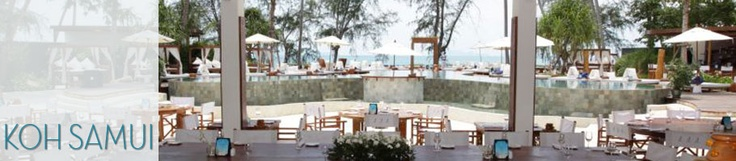 Nikki beach. Restaurant by the pool over looking the water. Great food and atmosphere. In Koh samui.