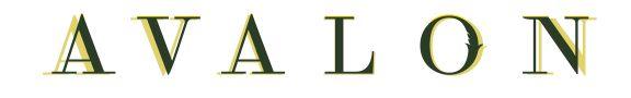 Avalon London Retro typography