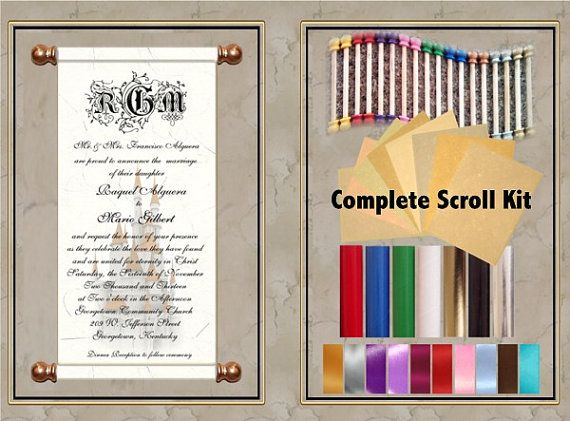 Scroll Invitation 50pc Kit Perfect For Invitation