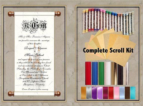 Scroll Invitation 50pc Kit Perfect For Invitation