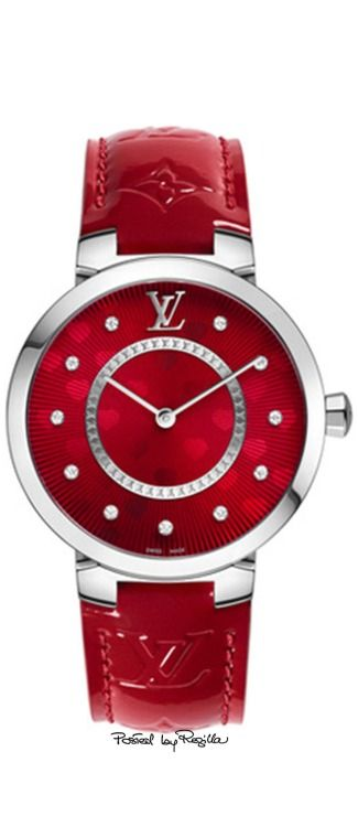 Louis Vuitton watch via @cbmiss. #watches #LouisVuitton