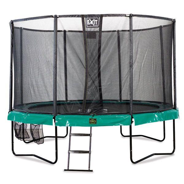 Exit Supreme trampoliinipaketti sisältää trampoliini, tikkaat ja kätevän kenkien säilytys pussin