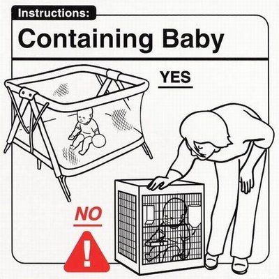 Don't use a cage to hold your baby. He's not a gerbil.