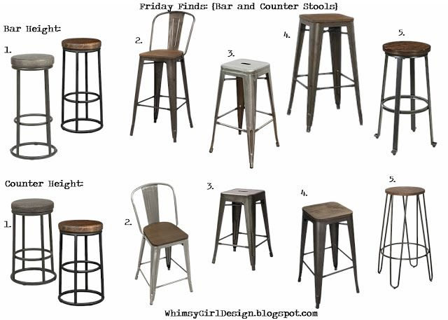 whimsy girl Friday Finds Bar and Counter Stools Industrial rustic  sc 1 st  Pinterest & 18 best beach house bar stools images on Pinterest | House bar ... islam-shia.org