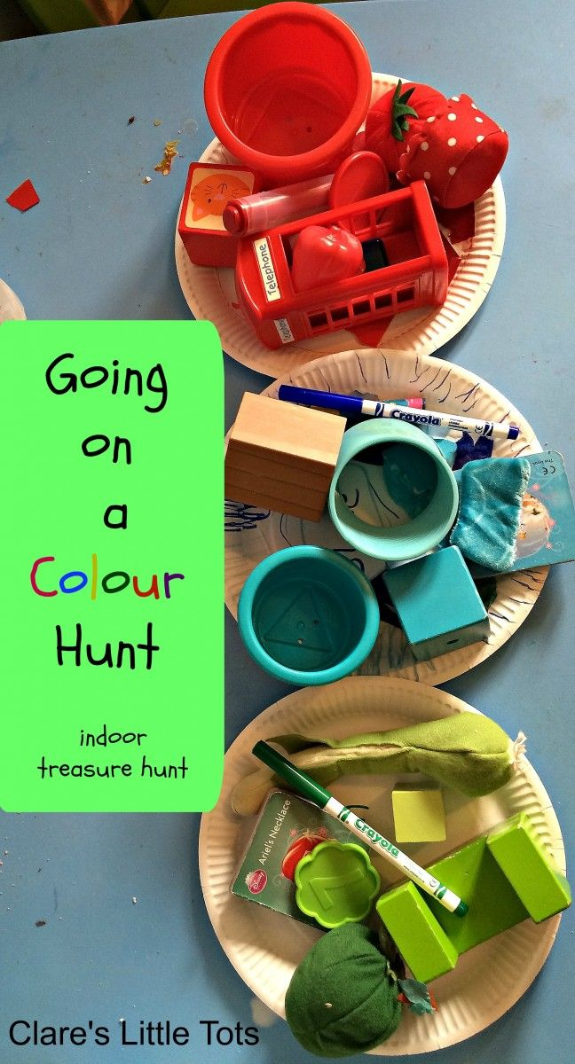 Going on a Colour Hunt fun activity and craft for toddlers and preschoolers to reinforce colour recognition.