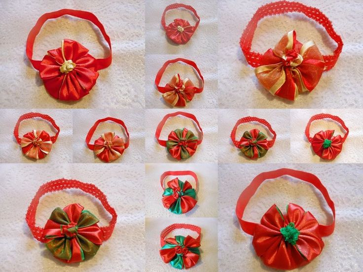 XMAS BABY GIRL TODDLER LACE OR PLAIN PETAL RIBBON HEADBAND HAIR ACCESSORY  #HandmadebyBONNIEBOBBLES