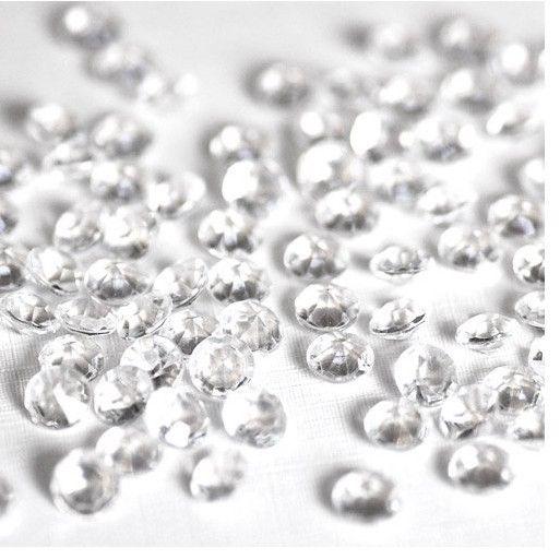 Pièces en acrylique clair 1000 4.5mm confetti diamond scatter table de réception de mariage décoration