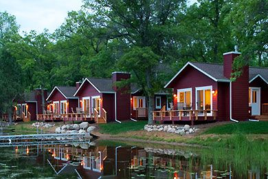 Grand View Lodge on Gull Lake in Brainerd Lakes Minnesota...kids club, indoor pool with waterslides, family beach smore's roast and a divine spa for Mom- love the roy lake cabins