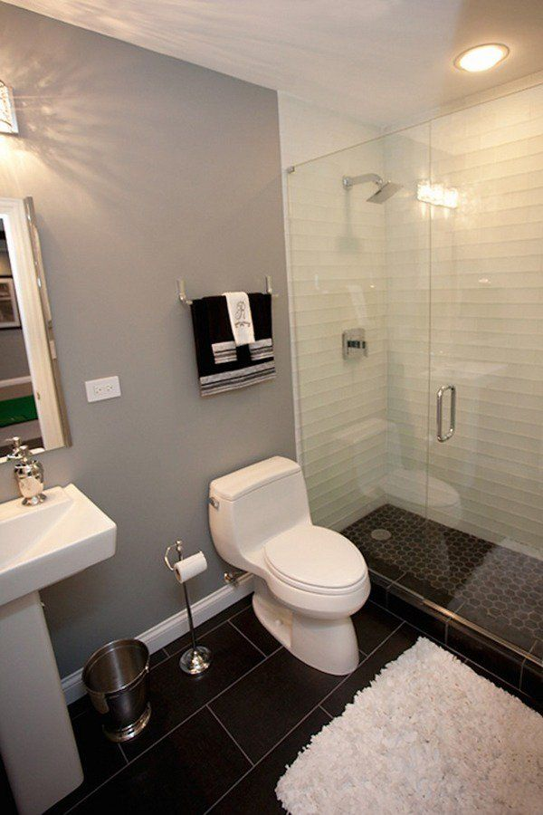 17 best ideas about small basement bathroom on pinterest for Basement bathroom flooring ideas