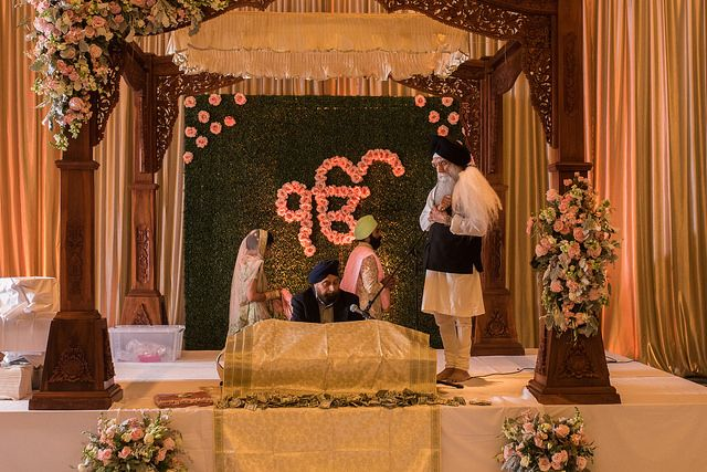 Sikh Wedding Ceremony Decor Sikh Wedding Planner Indian Wedding