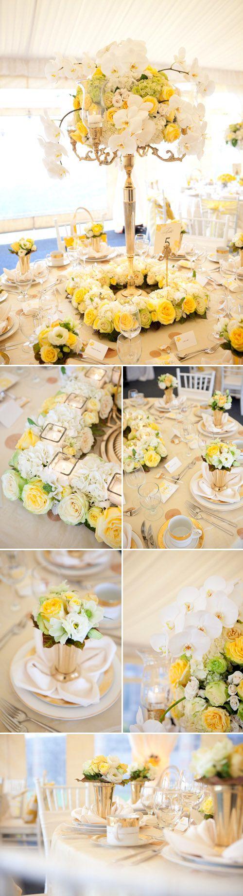 Wedding decorations yellow and gray   best Yellow u White Wedding images on Pinterest  Wedding ideas