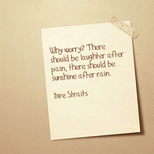 Why Worry - Dire Straits Lyrics