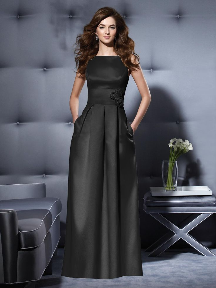 The 25  best Long black bridesmaid dresses ideas on Pinterest ...