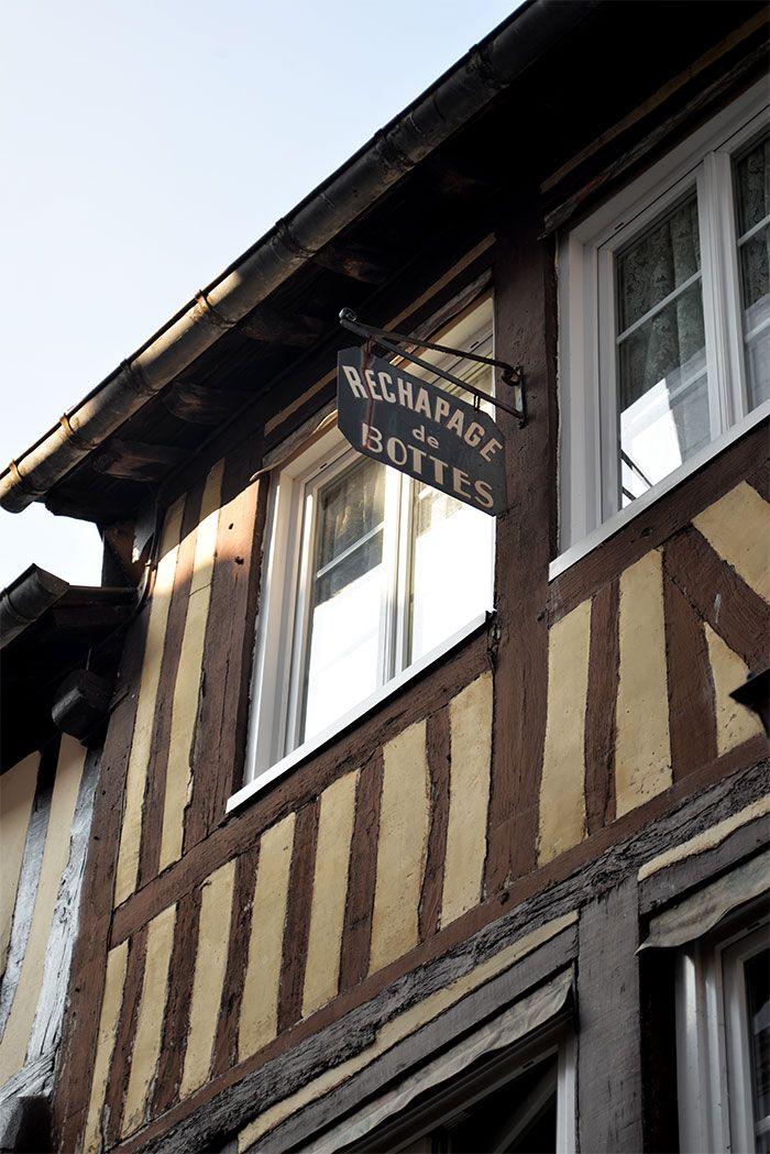 Les jolies maisons de Pont-Audemer dans l'Eure