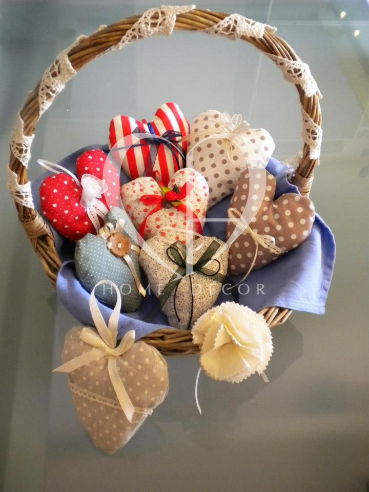 Scented stuffed hearts